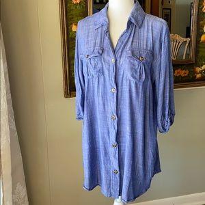 Dotti Chambray Shirt Dress or Beach Cover-up